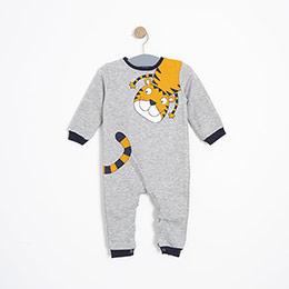 Erkek Bebek Tulum Gri Melanj (9-24 ay)