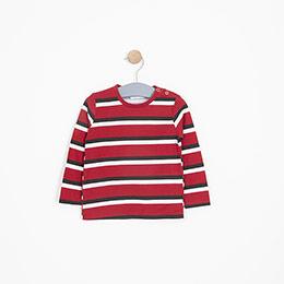 Erkek Bebek Uzun Kol Tişört Kırmızı (9-24 ay)