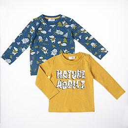 Erkek Bebek Uzun Kol Tişört Sarı (9-24 ay)