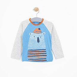 Erkek Bebek Uzun Kol Tişört Mavi (9-24 ay)