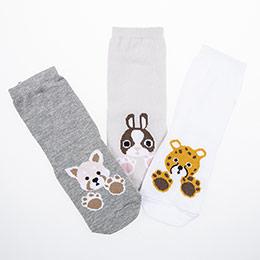 Kız Çocuk Üçlü Bilek Üstü Çorap Karışık (23-34 numara)