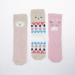 Kız Çocuk Üçlü Bilek Üstü Çorap Pembe (23-34 numara)