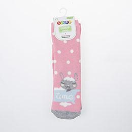 Kız Çocuk Altı Kaydırmaz Havlu Çorap Pembe (23-34 numara)