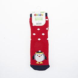 Kız Çocuk Altı Kaydırmaz Havlu Çorap Kırmızı (23-34 numara)
