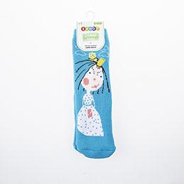 Kız Çocuk Altı Kaydırmaz Havlu Çorap Mavi (23-34 numara)
