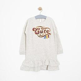 Kız Çocuk Elbise Bej Melanj (3-12 yaş)