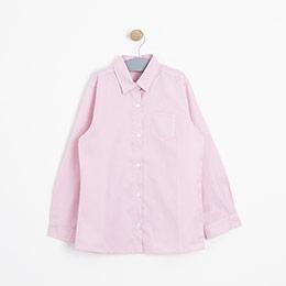 Kız Çocuk Uzun Kol Gömlek Pembe (3-12 yaş)