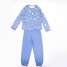 Kız Çocuk Pijama Takımı Mavi (3-12 Yaş)