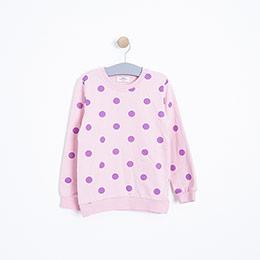 Kız Çocuk Sweatshirt Pembe (3-12 Yaş)