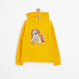 Kız Çocuk Sweatshirt Sarı (3-7 Yaş)