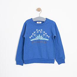 Kız Çocuk Sweatshirt Mavi (3-12 yaş)