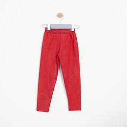 Kız Çocuk Uzun Tayt Kırmızı (3-12 yaş)