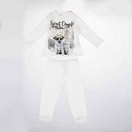Kız Bebek Alt Üst Örme Set Kırık Beyaz (12-24 ay)