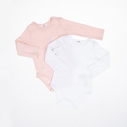 Kız Bebek Kısa Kol Body Pembe (3-15 ay)
