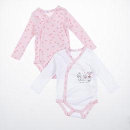 Kız Bebek Uzun Kol Badi Set Pembe (3-15 ay)