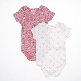 Kız Bebek Kısa Kol Badi Set Pembe (3-15 ay)