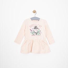 Kız Bebek Elbise Somon (12-24 ay)