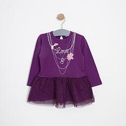 Kız Bebek Elbise Bordo (12-24 ay)