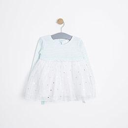 Kız Bebek Elbise Nane (12-24 ay)