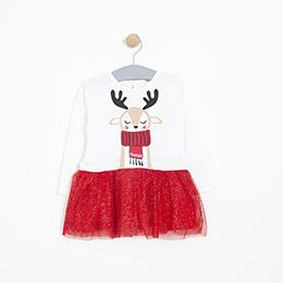 Kız Bebek Elbise Kırık Beyaz (12-24 ay)
