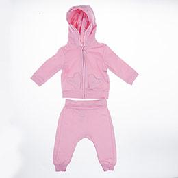 Kız Bebek Eşofman Takımı Pembe (3-15 ay)