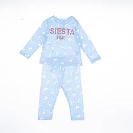 Yenidoğan Kız Pijama Takımı Mavi (12-24 ay)