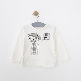 Kız Bebek Sweatshirt Kırık Beyaz (9-24 ay)