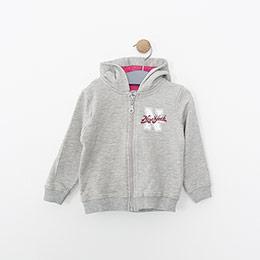 Kız Bebek Sweatshirt Gri Melanj (9-24 ay)