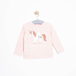 Kız Bebek Sweatshirt Somon (9-24 ay)