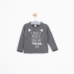 Kız Bebek Sweatshirt Antrasit Melanj (12-24 ay)