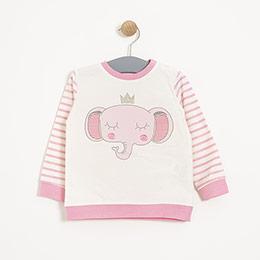 Kız Bebek Sweatshirt Pembe (12-24 ay)