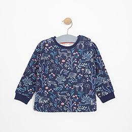 Kız Bebek Sweatshirt Lacivert (12-24 ay)
