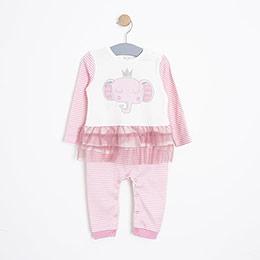 Kız Bebek Tulum Pembe (12-24 ay)