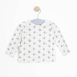 Kız Bebek Uzun Kol Tişört Bej Melanj (3-15 ay)