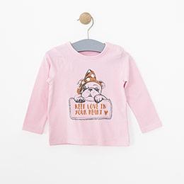 Kız Bebek Uzun Kol Tişört Bej Melanj (3-24 ay)