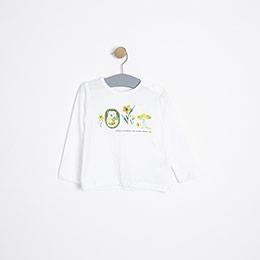 Kız Bebek Uzun Kol Tişört Beyaz (9-24 ay)