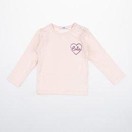 Kız Bebek Uzun Kol Tişört Somon (3-24 ay)