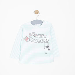 Kız Bebek Uzun Kol Tişört Nane (12-24 ay)
