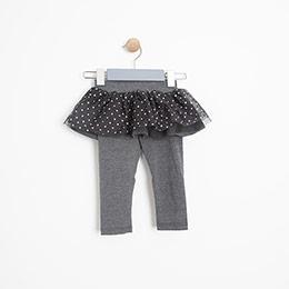 Kız Bebek Uzun Tayt Antrasit Melanj (12-24 ay)