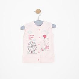 Kız Bebek Yelek Pembe (3-15 ay)