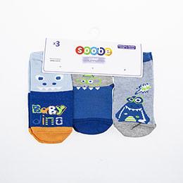 Yenidoğan Erkek Üçlü Bilek Üstü Çorap Mavi (14-22 numara)