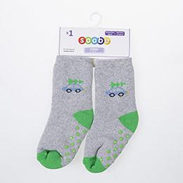 Yenidoğan Erkek Altı Kaydırmaz Havlu Çorap Gri (14-22 numara)