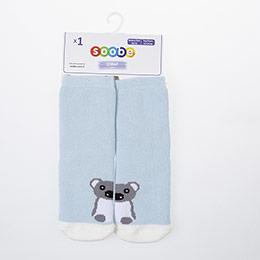 Yenidoğan Erkek Altı Kaydırmaz Havlu Çorap Mavi (14-22 numara)