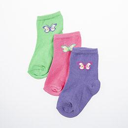 Yenidoğan Kız Üçlü Bilek Üstü Çorap Karışık (14-22 numara)