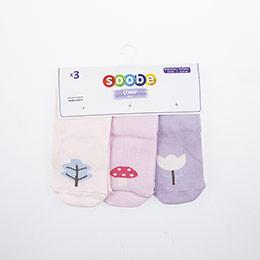 Yenidoğan Kız Üçlü Bilek Üstü Çorap Pembe (14-22 numara)