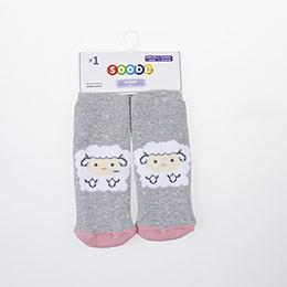 Yenidoğan Kız Altı Kaydırmaz Havlu Çorap Gri (14-22 numara)