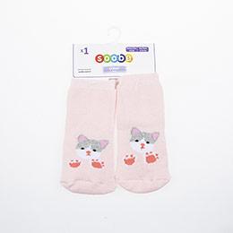 Yenidoğan Kız Altı Kaydırmaz Havlu Çorap Pembe (14-22 numara)