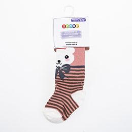 Yenidoğan Kız Külotlu Çorap Somon (15-22 numara)