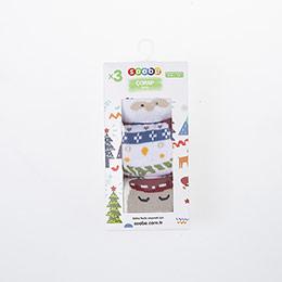 Unisex Çocuk Üçlü Havlu Çorap Beyaz (19-34 numara)
