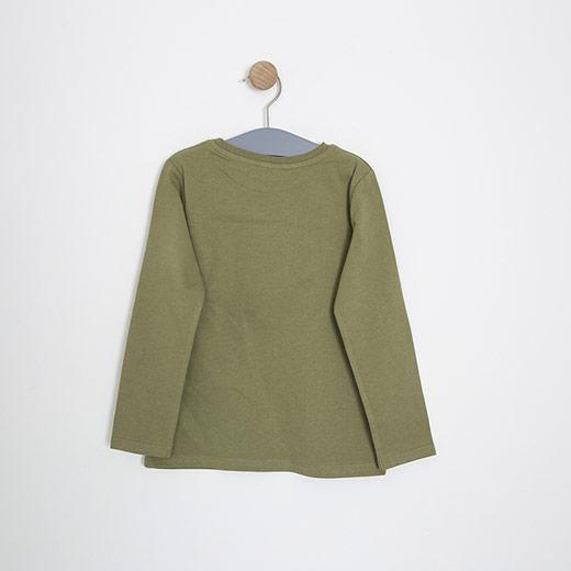 Erkek Çocuk Uzun Kol Tişört Açık Yeşil (3-12 yaş)
